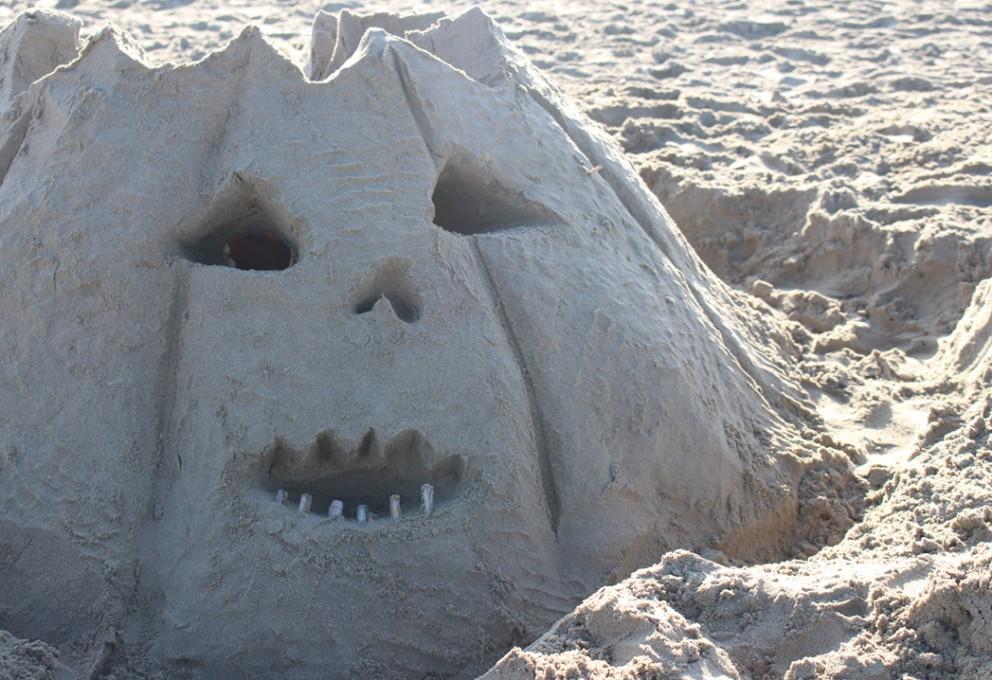 Uitstap : Pompoen zandkasteel bouwen