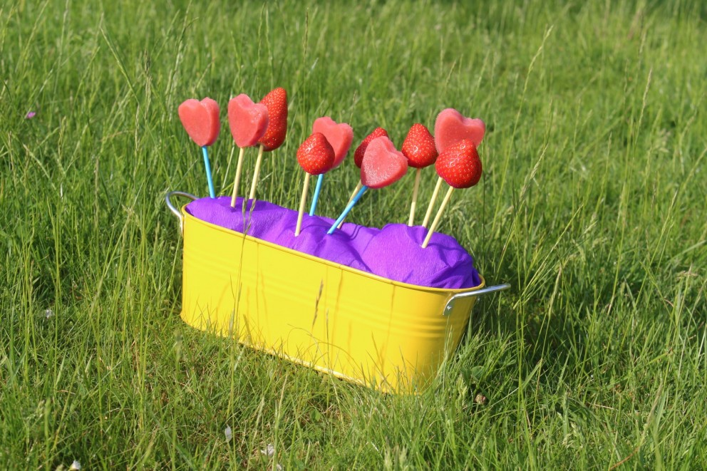 Even testen deze geestige fruitlolly's!!!  Fun en creativiteit alom!